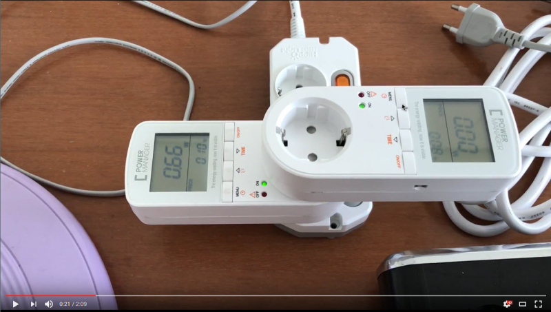 the Power-Saving demo video of 'Automatic voltage adjustment built-in function Power-Saving Outlet'.